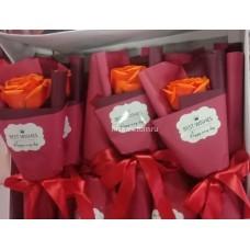Букет Роза из мыла в красной упаковке оптом