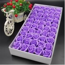 Розы из мыла 50 шт (размер бутона 5,5 см) оптом
