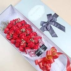 Букет Розы из мыла в коробке (15 роз) оптом