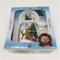 """Подарочный набор - посуда """"Дед Мороз и елка"""" (арт. AZ-2021-9) оптом"""