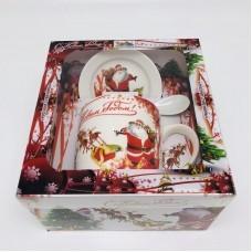 """Подарочный набор - посуда """"Дед Мороз и олени"""" (арт. AZ-2021-8) оптом"""