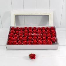 Розы из мыла 25 шт (размер бутона 6,5 см) оптом