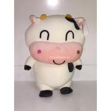 """Мягкая игрушка """"Бык"""" белый стоячий розовая морда 35 см оптом"""