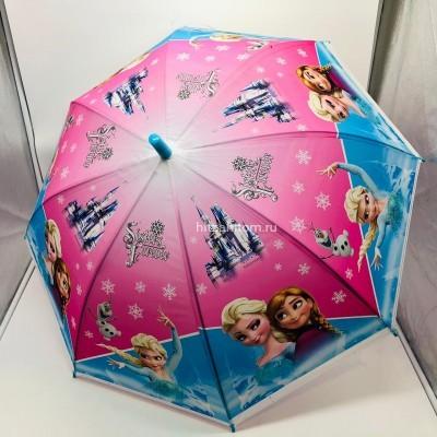 Зонт детский с принтами 4 вида, 12 шт в уп оптом (арт. K237)