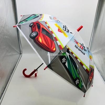 Зонт детский с принтами 4 вида, 12 шт в уп оптом (арт. K2020)