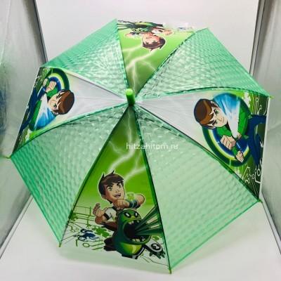 Зонт детский с принтами 4 вида, 12 шт в уп оптом (арт. K30)